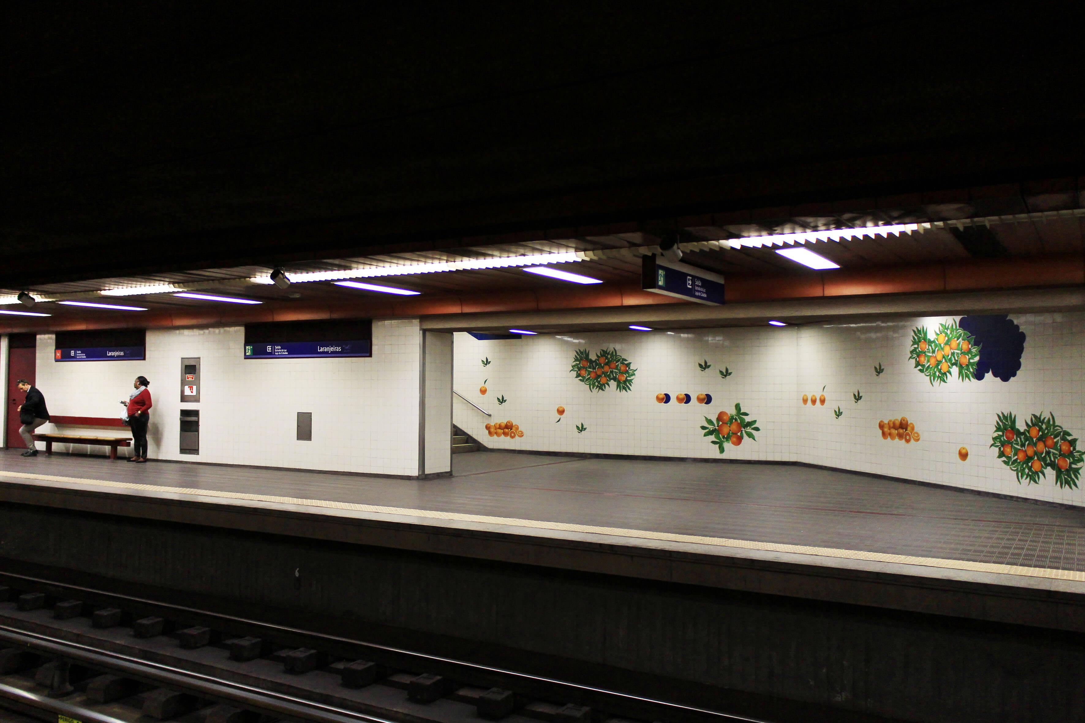 Estação do Metro das Laranjeiras