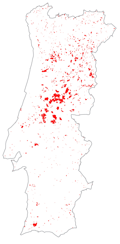 Área ardida em 1991