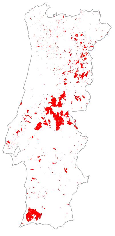 Área ardida em 2003