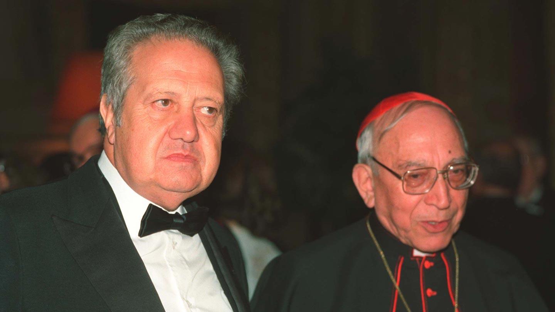 Mário Soares e Cardeal Agostino Casaroli