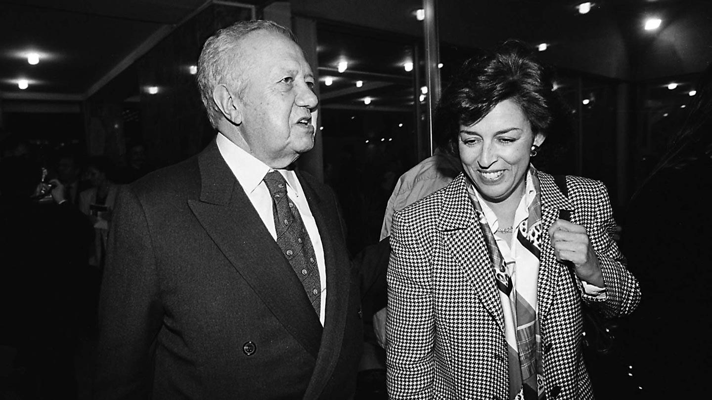 Leonor Beleza e Mário Soares