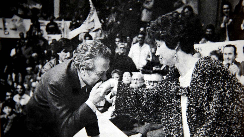 Lídia Jorge e Mário Soares