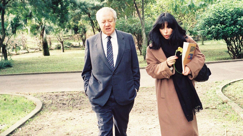 Clara Ferreira Alves e Mário Soares