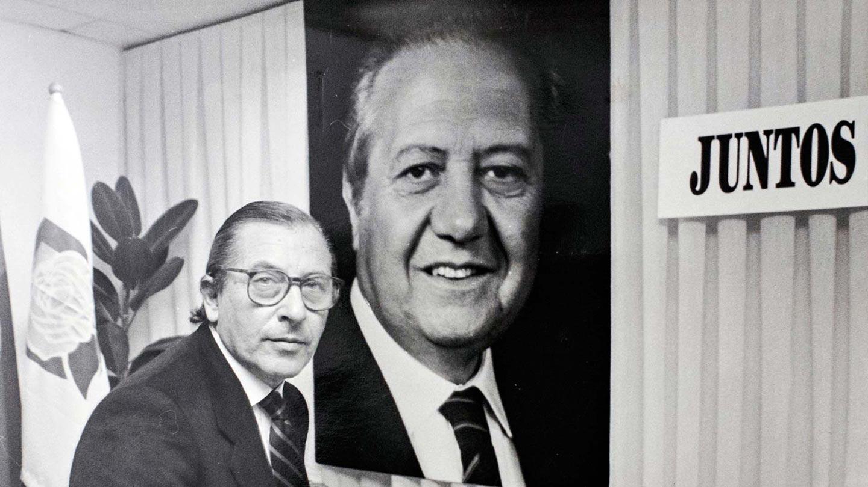 Miguel Veiga e Mário Soares