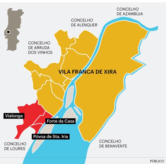 Mapa Mapa De Vila Franca De Xira
